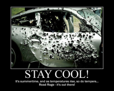 'Stay Cool' poster to prevent road rage