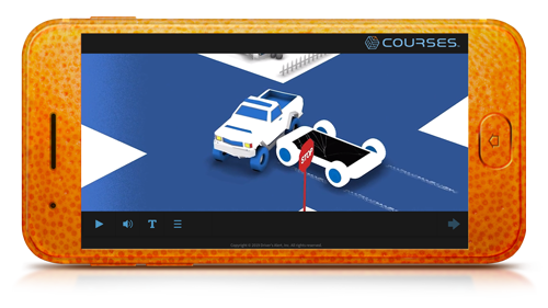 Distracted Driving training course screenshot.